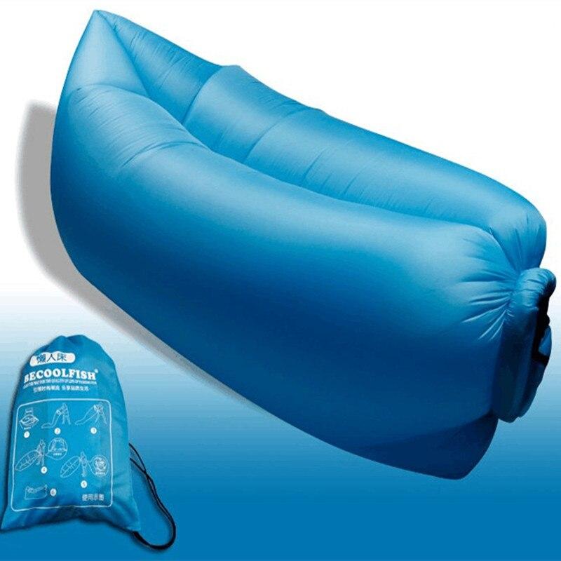 Большой пляж размера портативный наружный надувной сон гамака дивана мебели кости, располагаясь лагерем нейлон надувного матраца ленивый воздушный мешок дивана