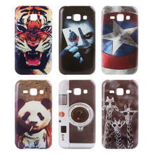 For Samsung Galaxy J1 J100 2015 Cases Star Animals Tiger Giraffe Panda Style TPU Protector Back Cover Fundas Capa