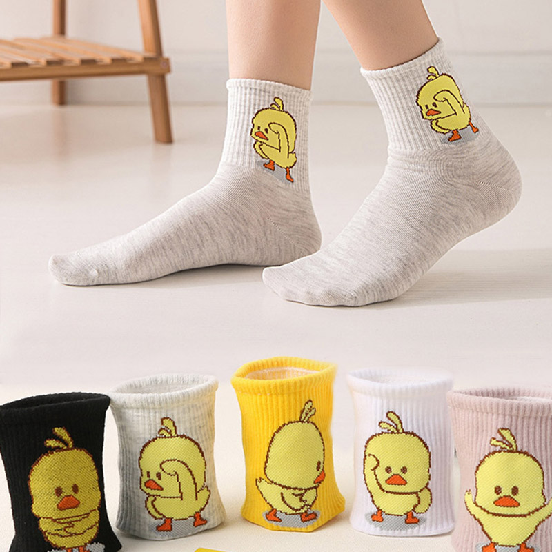 4 Pairs Animation Cartoon Socks Women Cute Funny Character Socks MADE IN KOREA