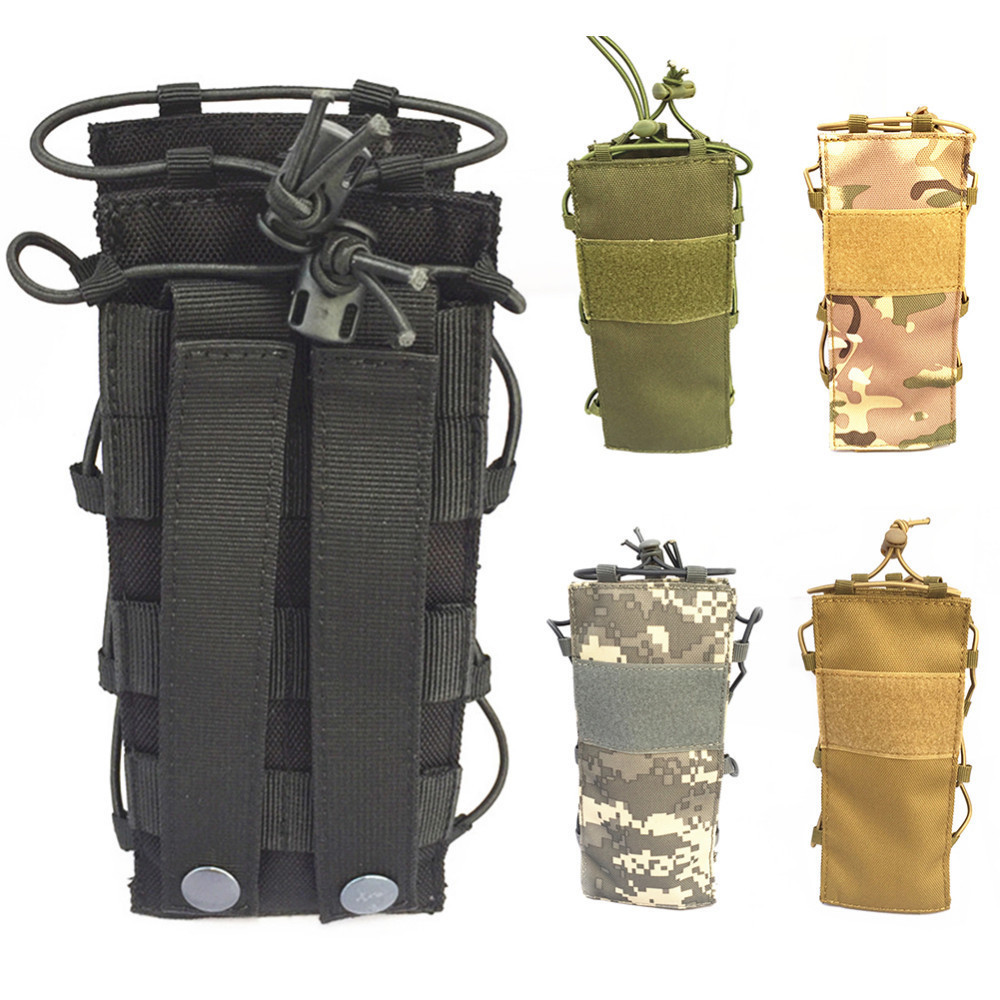 US Outdoor Tactical Military Outdoor Water Bottle Bag Zipper Pouch Kettle Holder