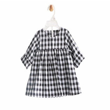 Classic Girls Dress Kids Cotton Long Sleeve Plaid Casual Dress for Baby Girl Tops Blouse Dresses Autumn Children's Clothing