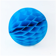 3pcs 14'' 35cm Sky Blue Paper Honeycomb For Festival Party Activities Decor Wedding Room Decoration Showcase Decoration DIY(China)
