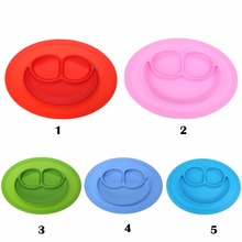 Silicone Dinner Plate Slip-resistant One Piece Silicone Feeding Food Placemat Bowl Children Dishes Tableware Kitchen Accessories