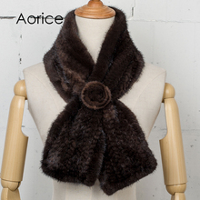 Aorice SF747 real mink fur scarf