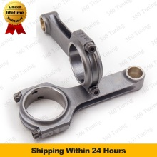 For Fiat 500 Old Model 2 cylinder 126mm Conrod connecting rods Pleuel Bielas 4340 EN24 Forged Steel H Beam Floating Crankshaft