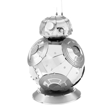 BB8 puzzle NEW Star Wars Force Awakening Metal assembling model DIY 2 sheets Robot Children's gift static state Stainless steel
