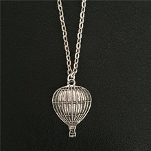 American Fashion Romantic Metal Balloon Jewelry Exquisite Antique Silver Color Hot Air Balloons Pendant Necklace Gifts For Women