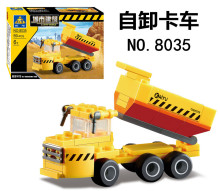 KAZI City Construction Engineering Dump Trucks Building Blocks Assemble Bricks Educational Toys For children Birthday Gifts