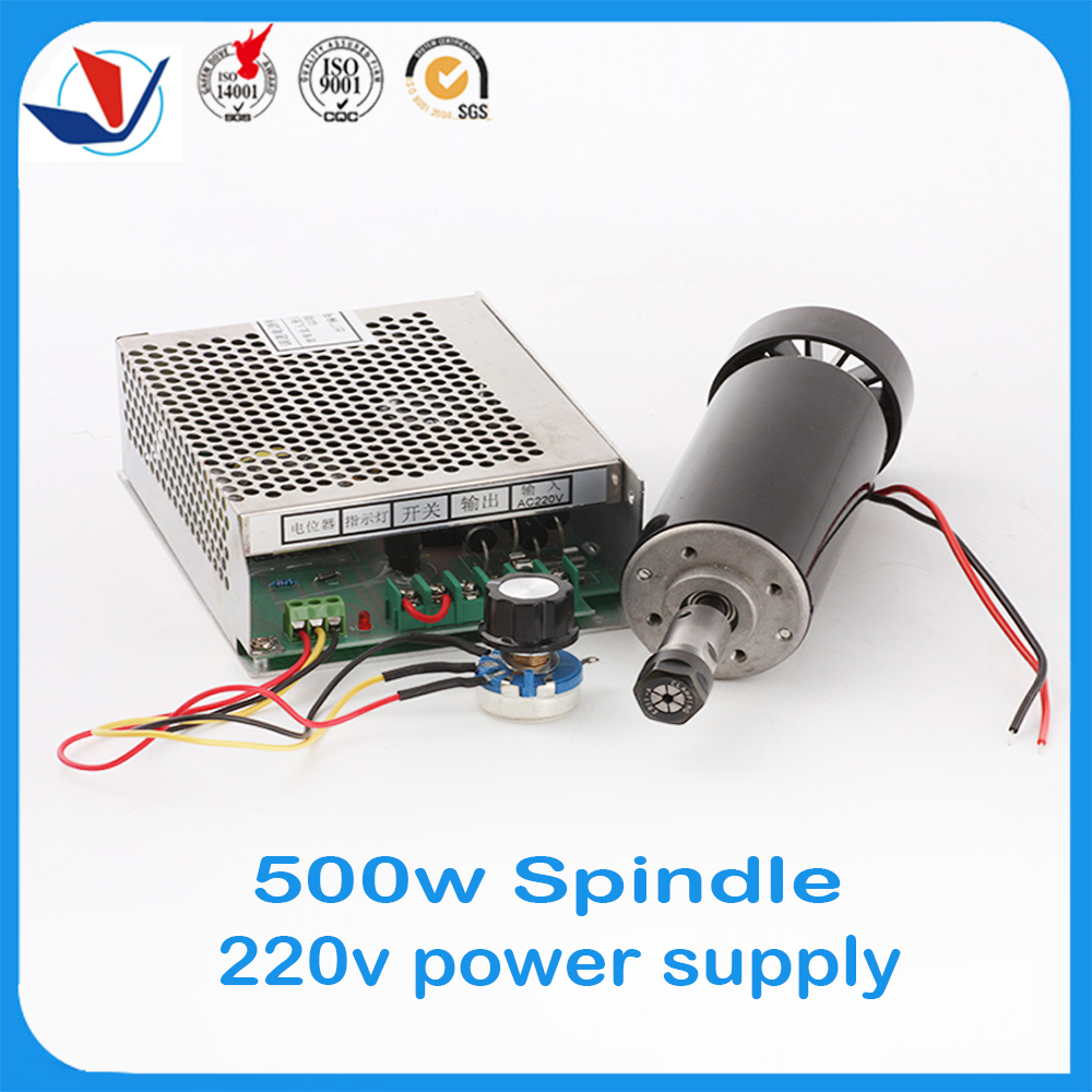 2016 Sale Spindel 0.5kw 220v Air Cooled Spindle Er11 Collet Cnc 500w Motor + Power Supply Speed Governor For Diy Engraving. <br><br>Aliexpress