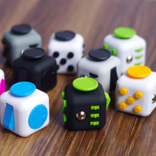 11 Types Squeeze Stress Reliever Fidget Cube 2016 New PC Vinyl Fidgetcube Game Toy kickstarter Fidget Toys Best Christmas Gifts(China)
