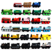 29Pcs/Lot Wooden Thomas Train Woy Kids Thomas Car Wood Models Toy Train Car Baby Wooden Toys