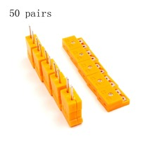 50 pairs K Type male female mini Connectors plug Thermocouple Temperature Sensors New(China)