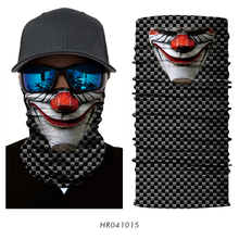 3D Seamless Magic Headband Head Scarf Skull Joker Balaclava Neck Warmer Face Mask Bandana Motorcycle Bicycle Headwear Outdoor