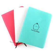 2018-2019 Cute Kawaii Notebook Cartoon Molang Rabbit Journal Diary Planner Notepad for Kids Gift Korean Stationery Three Covers(China)