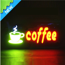 Striking Shop Open&close in COFFEE Resin billboards Sign/43*23cm customer made window sign/beautiful looking led open sign