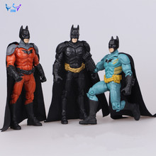 "2016 Hot! 3pcs/set 5.5"" Super Heroes Batman The Dark Knight Rises PVC Action Figure Collectible Model Doll Toys (3 colors) AC148"