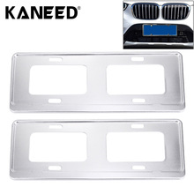 2 PCS Car License Plate Magnesium Alloy Bracket Frame Holder Stand Mount Silver license plate covers frames