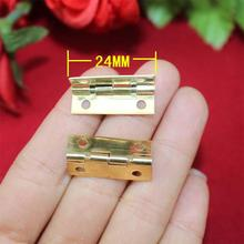 24*9MM 1 inch  90 degrees Yellow Hinge  Flat Hinge  Gift Hinge  Metal  Packaging Metal Hinge Wholesale