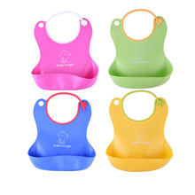 colorful Baby Silicone Bib Waterproof Disposable Bib Kids Saliva Towel Boys And Girls Bib Children Feeding Accessories Wholesale