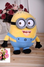 Creative 23cm 9inch Despicable Me Plush Yellow Minion 3D Plastic eye Dolls Jorge Stewart Dave Toys for kids Gift Baby Plush Toys