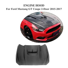 Carbon Fiber Car Engine Hood Bonnet Cover fit for Ford Mustang Coupe Convertible 2-Door 2015-2017