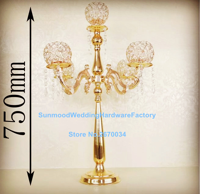 gold crystal ball wedding centerpiece hanging acrylic bead flower stand for wedding tablechina