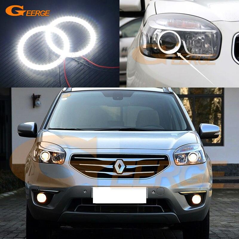For Renault Koleos Samsung QM5 2012 2013 2014 Xenon headlight Excellent Ultra bright illumination smd led angel eyes kit<br>