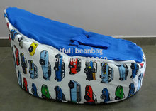 COVER ONLY, NO FILLINGS - race car cover Baby infant Bean Bag Snuggle Bed Portable Seat No beans(China)