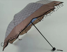 Maple leaves umbrella,leopard printed design,8 ribs,three fold,hand open umbrellas,imitation paradise umbrella.supermini