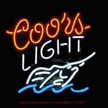 Coors Light Swordfish Neon Bulbs Neon Sign Real Glass Tube Handcrafted Shop Advertising Neon Lamp Bulb Indoor Motel Sign 24x20(China)