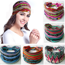 Bohemia Floral Wide Cotton Stretch Women Headband Headpiece Hair Accessories Turban Headwear Bandage Hair Bands Bandana