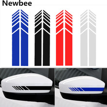 Newbee Pair Car Sticker Auto Graphic Reflective Racing Rearview Mirror Decal Strip Vinyl