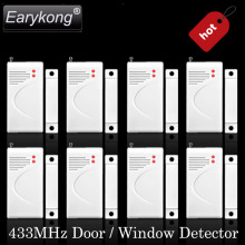 2017 New Selling Free Shipping Wireless Door Window Sensor For GSM Alarm System Detect Window Open and Close