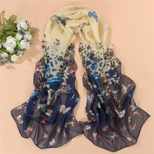 Women Silk Long Scarf Print Bandanas Head Shawl Veil Scarves For Women Scarf Collar Ring Scarves Female 17 Color Select Hot Sale