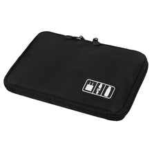 Convenient Organizer System Kit Case Storage Bag Digital Devices USB Data Cable Earphone Wire Pen Travel Insert 5076(China)
