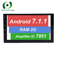 Android 7.1.1 HD screen Quad core ROM 16G/32GB RAM 2GB/1GB 2 DIN car dvd GPS radio stereo audio PLAYER SWC BT Map TDA 7851 3G/4G