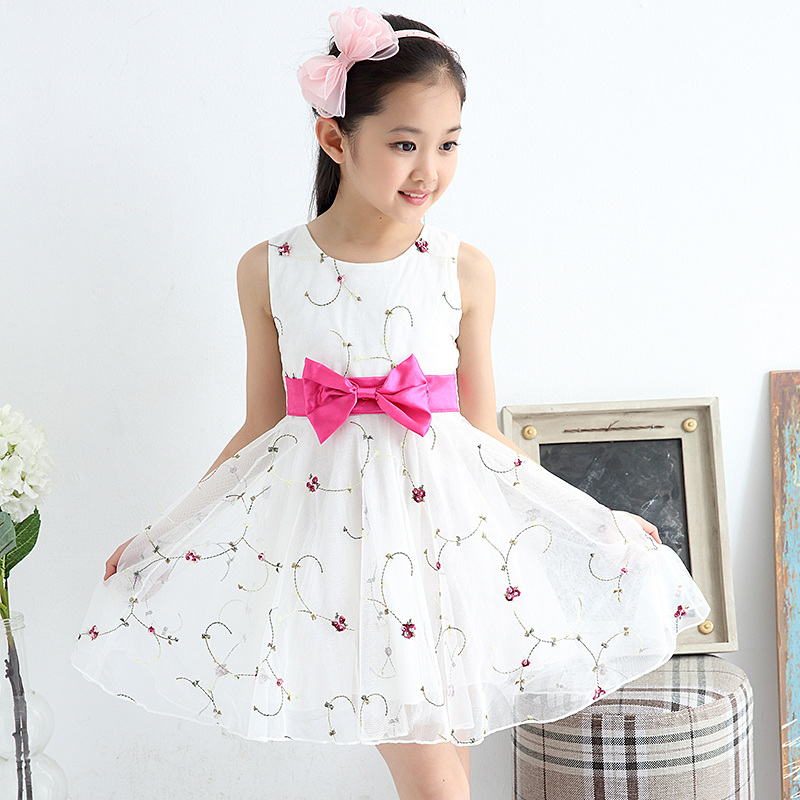 Minnie Cute dresses for girls 2017 Summer Girl Tutu Dress Girls  Princess Dress&amp;tri-color Print Bow  Clothing baby girl clothes<br><br>Aliexpress