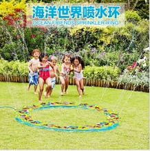 Ocean Friends Sprinkler Ring  Giant Sprinkler Ring PVC Outdoor Water Toys For Adults Children Holiday Party Fun Family Game
