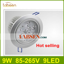 Wholesale - High Power 9W 9X1W Led Recessed  Lamp Good Led Ceiling Light Warm White 110-240V CE ROHS Freeshipping