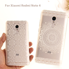Soft Case for Xiaomi Redmi Note 4 Patterned Clear IMD TPU Phone Casing for Xiomi Redmi Note4 Mobile Cover Shell funda