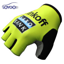 Loyoo Cycling Gloves Bicycle Sport Gloves BMX Gants Gel Shockproof Mittens Tinkoff SAXO Guantes Ciclismo Verano de Luvas(China)
