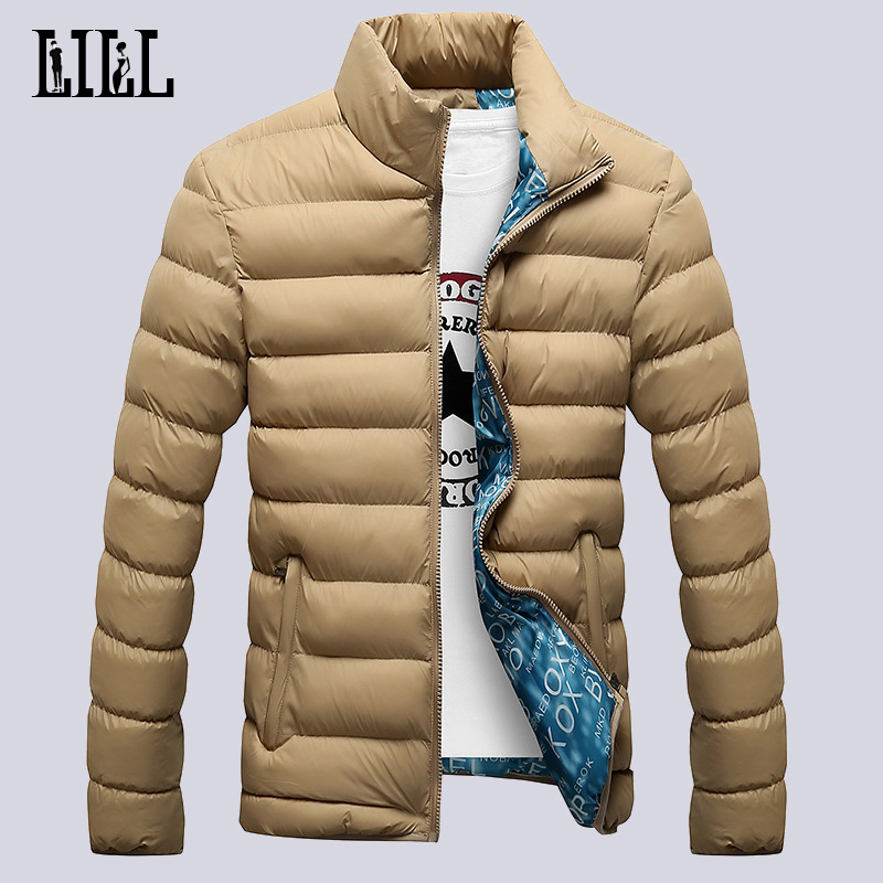2017 Fashion Winter Light Down Jackets For Men Warm Breathable Casual Coats Men's Outerwear Windproof Feather Jacket 5XL,UMA091
