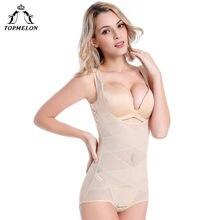 ed52f2bc1f80e TOPMELON Women Seamless Shapewear Modeling Strap Bodysuit Transparent Full Body  Shaper Slim Girdle Waist Cincher Underwear
