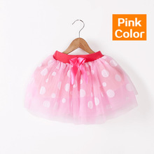 2017 summer baby girls skirts childrens ballerina lace skirt fluffy dot kids Miniskirt candy color freeshipping