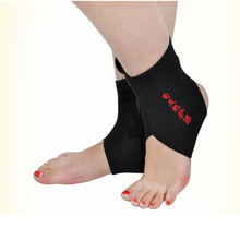 1Pair Tourmaline Self heating Far Infrared Magnetic Therapy Ankle Care belt Support Brace Heel Massager Foot Health Care(China)