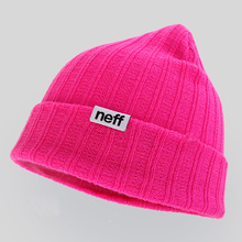 Winter Knit Hat Letters Skullies Fold Solid Neff Beanie Daily Beanie For Women and Men Dark Red Gray Blue Ivory Pink etc.
