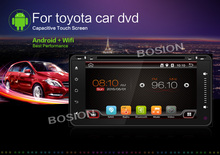 7 inch Dual core Android 4.4 Double Din In Dash Touch Screen Car DVD/VCD/MP3 Player GPS Navigation Radio for Toyota Camry/Aurion
