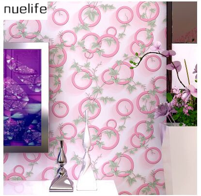 Modern 3D green leaves  circle pattern wallpaper fashion simple living room bedroom TV background wall non-woven wallpaper<br><br>Aliexpress