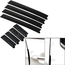 Free Shipping 8 pcs Car Door Edge Guards Trim Molding Protection Strip Scratch Protector New