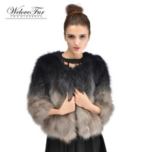 Winter Genuine Raccoon Fur Jacket Women Warm Fur Coat Nature Raccoon Fur Coat Overcoat Short Style